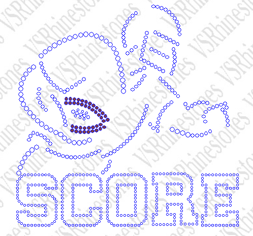 SCORE Football Rhinestone Transfer
